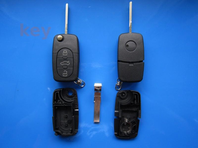 Carcasa cheie Audi 3 butoane 1616 cu lamela HU66