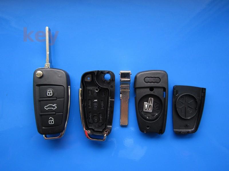 Carcasa cheie Audi 3 butoane 2005+cu lamela HU66