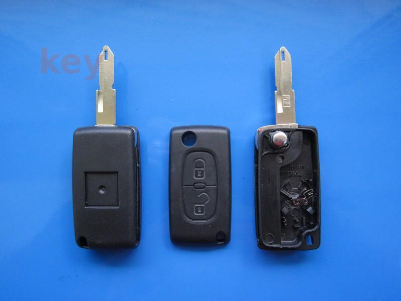 Carcasa cheie Citroen 2but briceag cu loc baterie NE73