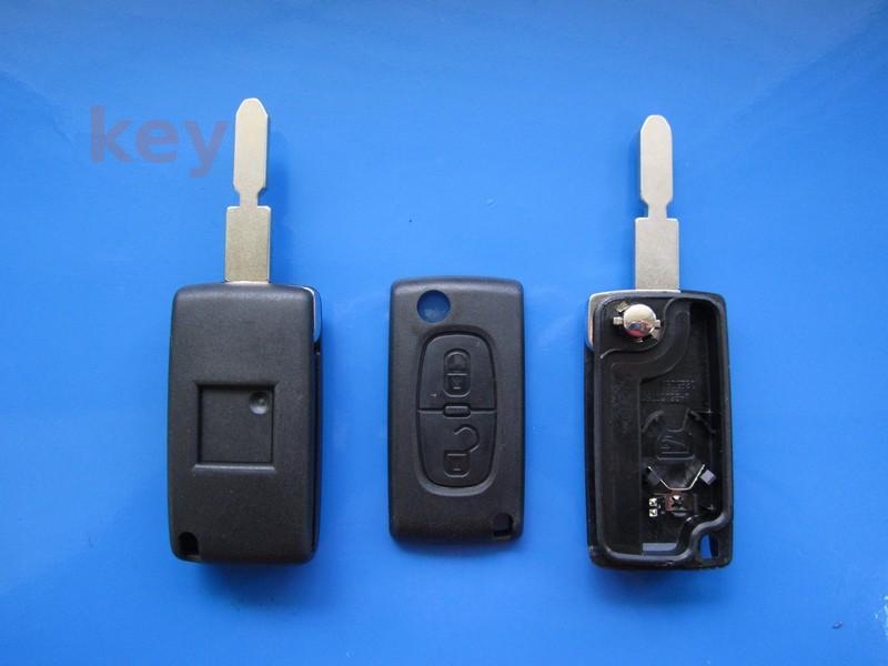 Carcasa cheie Citroen 2but briceag cu loc baterie NE78