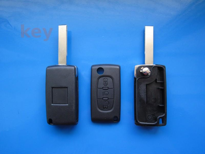 Carcasa cheie Citroen 3but fara loc baterie HU83 lumini