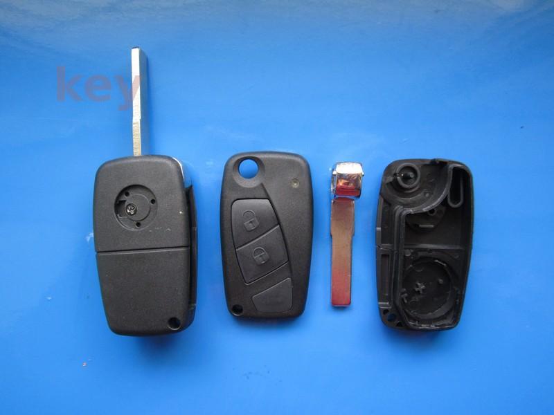 Carcasa cheie Fiat 2 butoane cu lamela SIP22 negru