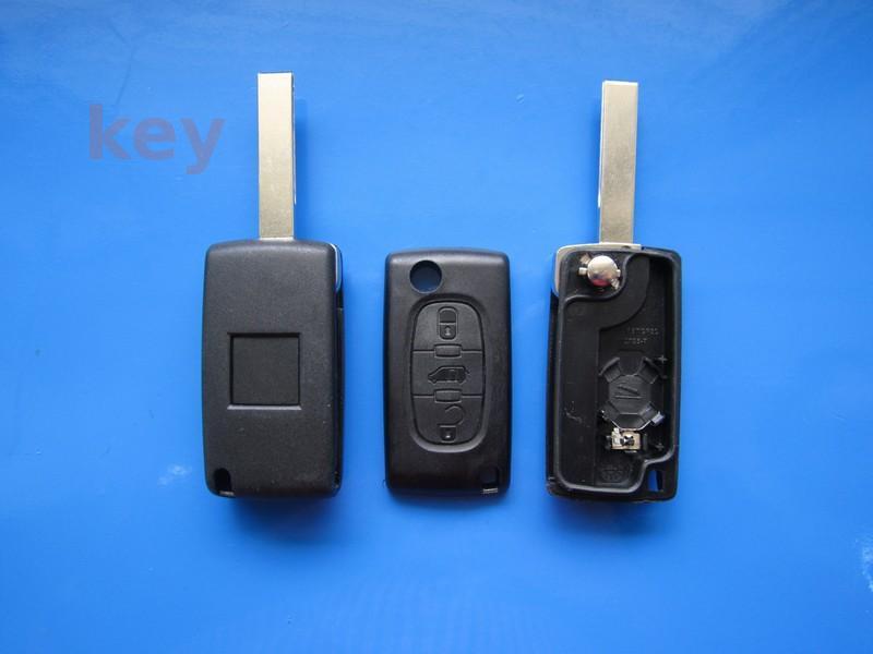 Carcasa cheie Fiat 3 butoane cu lamela HU83 cu loc baterie