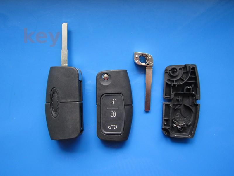 Carcasa cheie Ford 3 butoane briceag cu lamela HU101