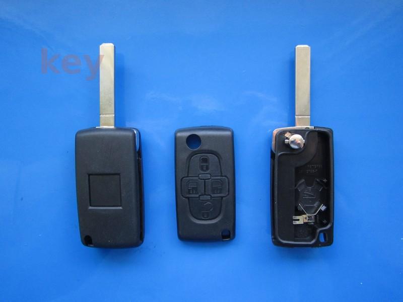 Carcasa cheie Peugeot 4but cu loc baterie VA2