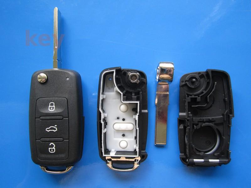 Carcasa cheie VW 3 butoane patrate cu cap cheie 2011+